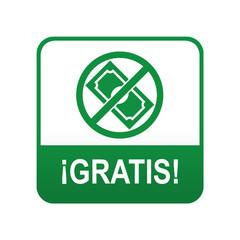 Etiqueta tipo app verde GRATIS