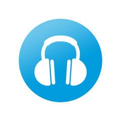 Etiqueta redonda auriculares