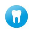 Etiqueta redonda diente