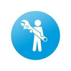Etiqueta redonda trabajos domesticos