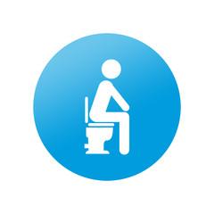 Etiqueta redonda WC
