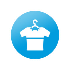 Etiqueta redonda camiseta