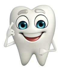 Teeth character is thinking