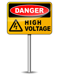 Vector high voltage signpost