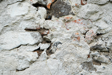 Close up photo of a weathered old wall