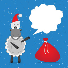 Christmas funny sheep