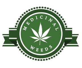 Set of medicinal marijuana label