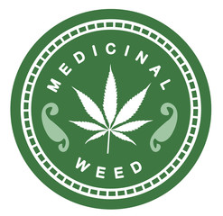 Set of medicinal marijuana label