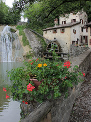 Ancient italian water mill