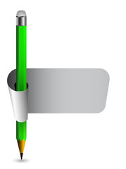pencil with banner