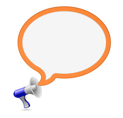 megaphone loudspeaker speech bubble