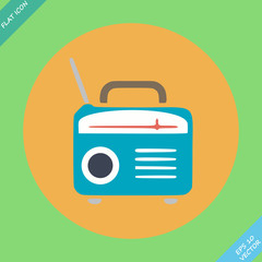 Retro Radio icon - vector illustration