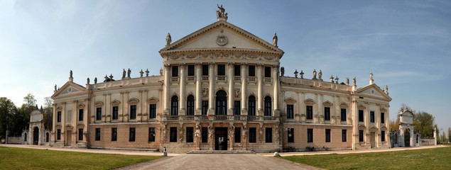 View of Villa Pisani, a large historical Italian residence