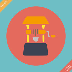 Well icon - vector illustration. Flat design