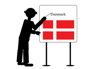 teacher show flag of danmark