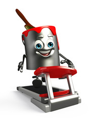 Paint Bucket Character with walking machine