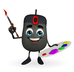 Computer Mouse Character with Color plate