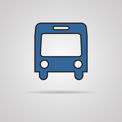 Bus symbol on gray background