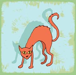 halloween cartoon cat