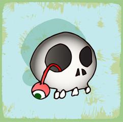 halloween cartoon skull