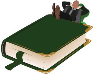 relax con un libro