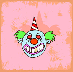 halloween cartoon clown