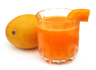 Mango juice with fresh fruit