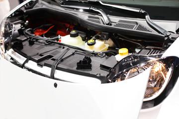 Auto Frontabdeckung in Weiß
