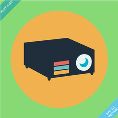 Data projector - vector illustration.