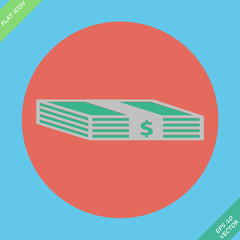 Web icon bundle of bank notes, money, hard cash