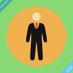 Businessman web icon - vector illustration.