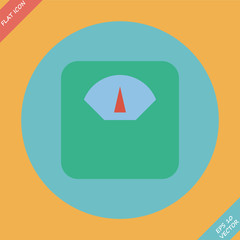 Scale icon - vector illustration. Flat design