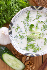 Cold Bulgarian soup