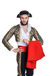 Man dressed as Spanish bull fighter - 67704783
