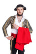 Man dressed as Spanish bull fighter - 67704786
