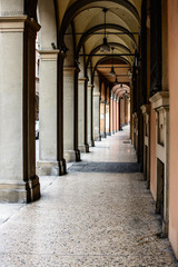 via Galliera, Bologna typical portico