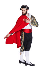 Toreador with a red cape
