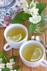 Green tea with jasmine and lemon