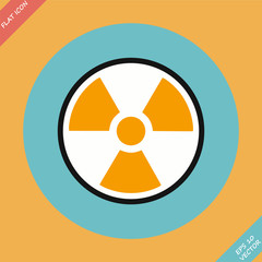 Radiation sign - vector illustration.