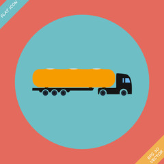 Icon trucks with tanks - vector illustration.