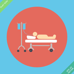 Life icons, hospitalized with serum- vector