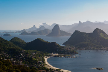 Beautiful Panoramic View of Rio de Janeiro Mountains