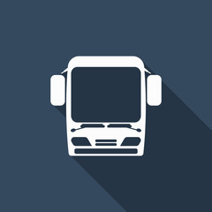 bus icon with long shadow