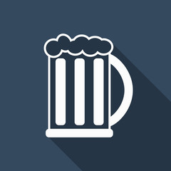 beer icon with long shadow