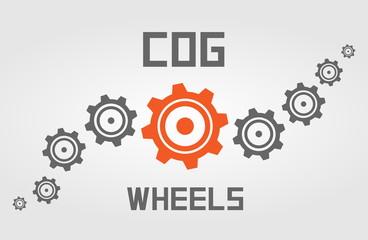 Cog wheels background