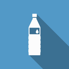 water bottle icon with long shadow