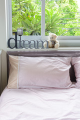 Home interior decoration, sweet dream with Teddy bear