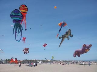 Festival cometas playa Malvarrosa, Valencia