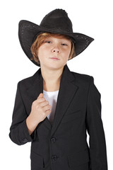 boy with cowboy hat