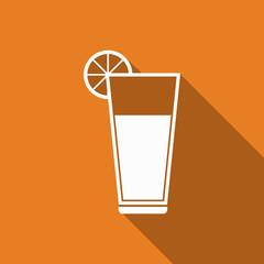 juice icon with long shadow
